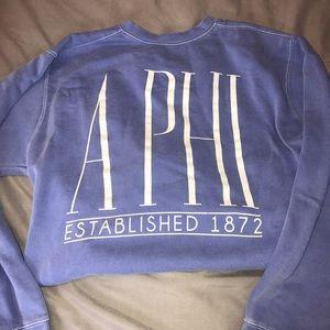 Alpha phi light blue noodie